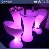 led bar coffee cocktail illuminated table color change night club furniture