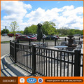 Tubular spear top residential ornamental iron fence