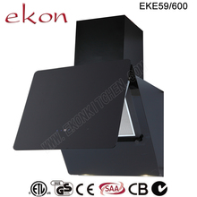 CE GS SAA CB Approved Black Glass Wall Mounted 60cm Inox Design Air Cooker Hood