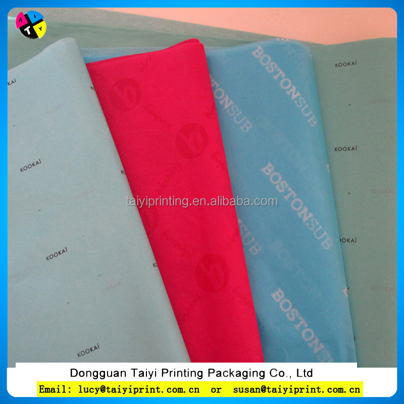 nice color printing on wrapping custom tissue paper,white tissue paper