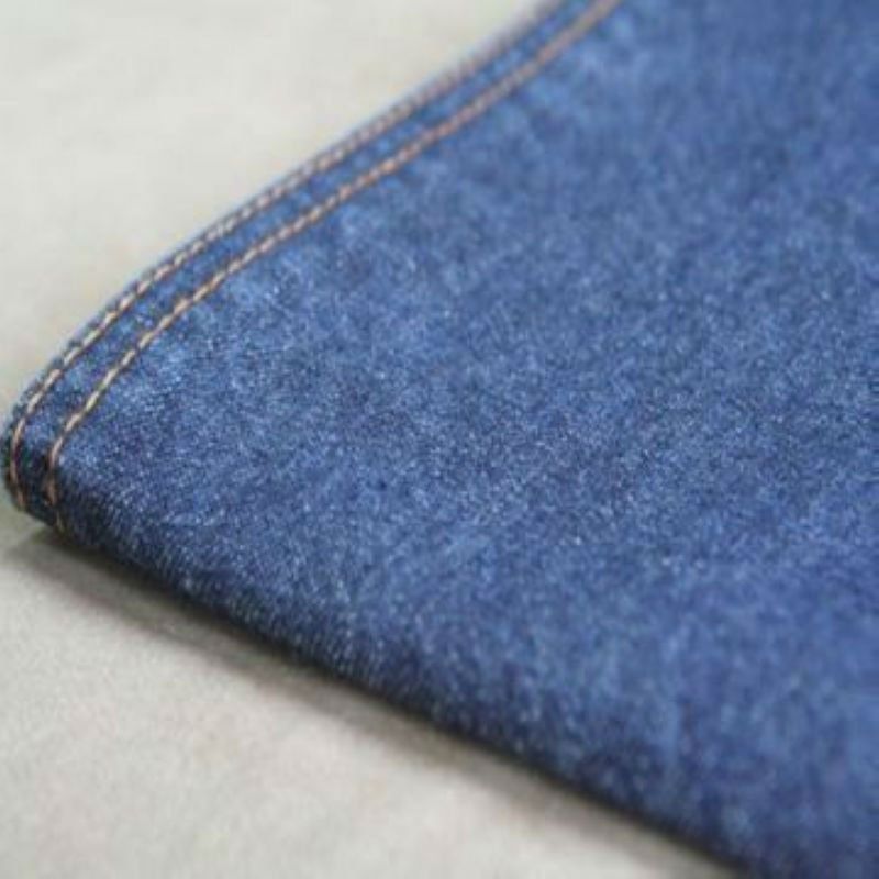 100% cotton twill indigo recycled organic jeans denim fabric