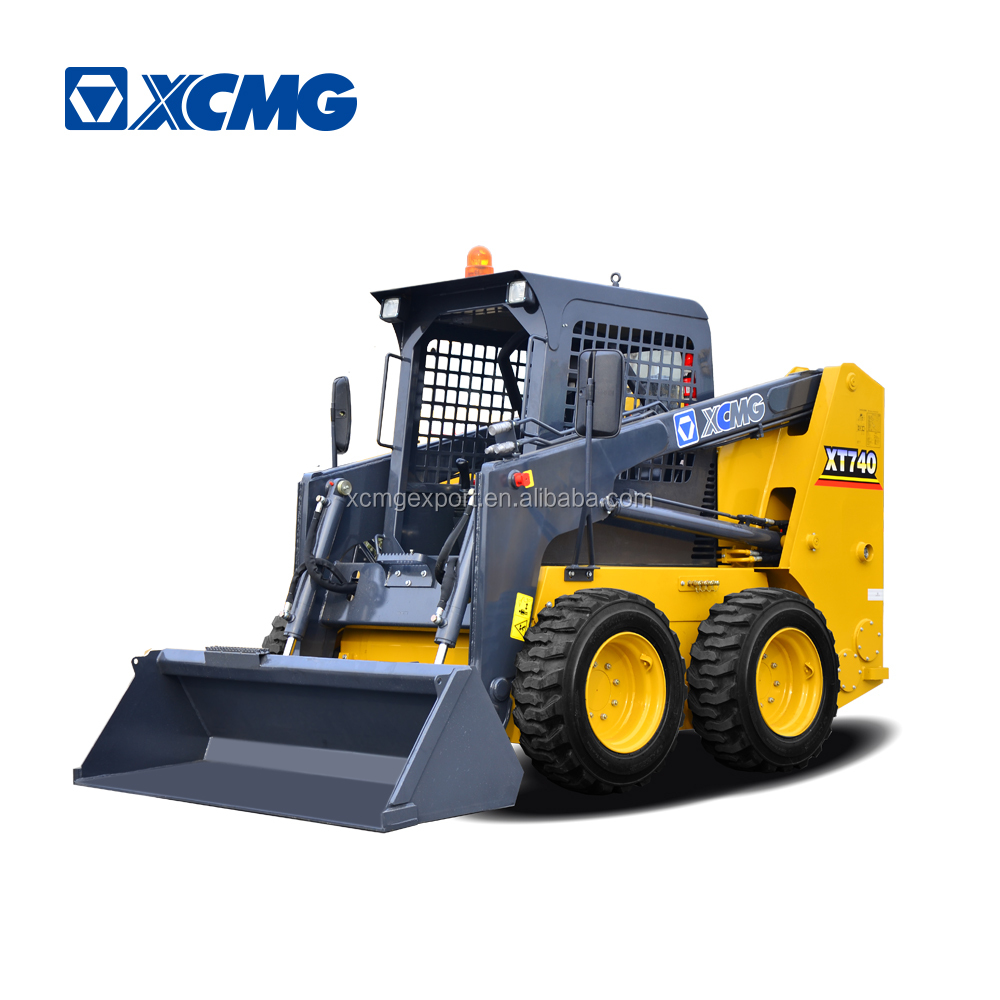 XCMG XT740 electric skid steer loader solar sugarcane loader