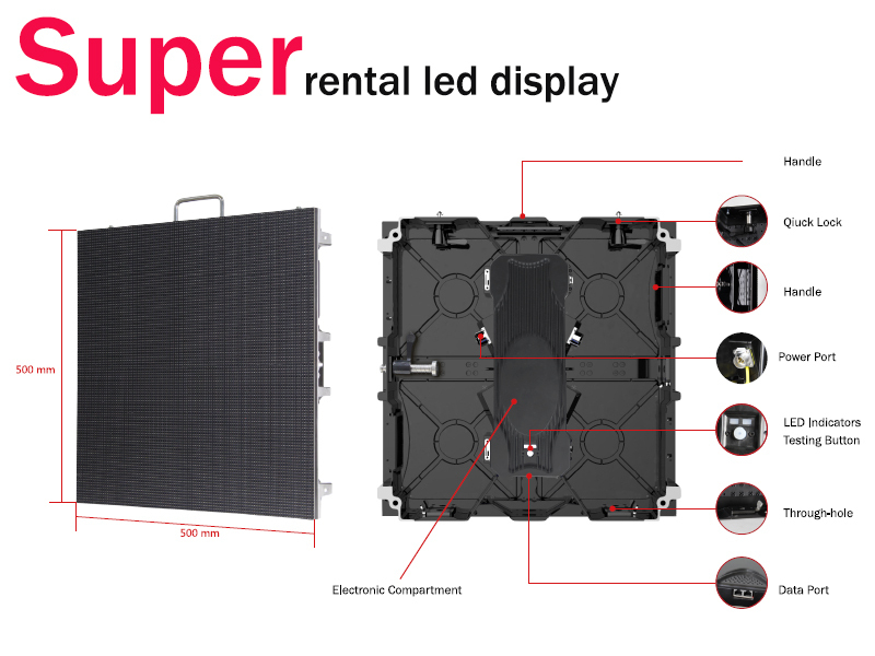 No scan light p3.91mm rental led display /flexible led display/movable led display p4.8 led display wall