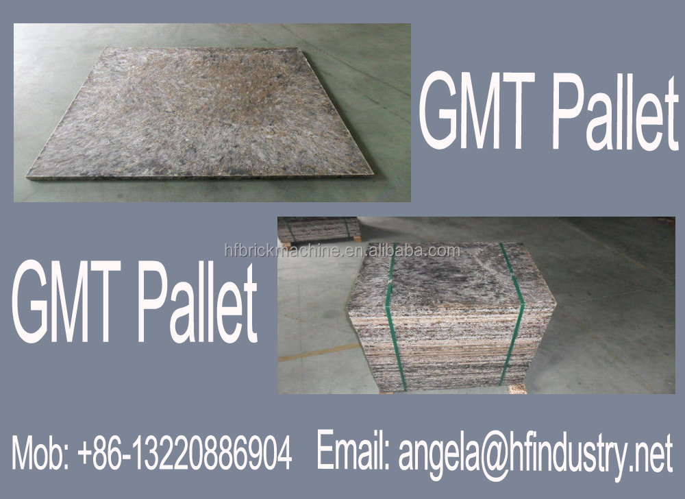 PE pallet with glass fiber for concrete block making machine