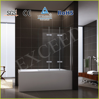Straight shape pivot and hinge combine shower bath screen EX-226