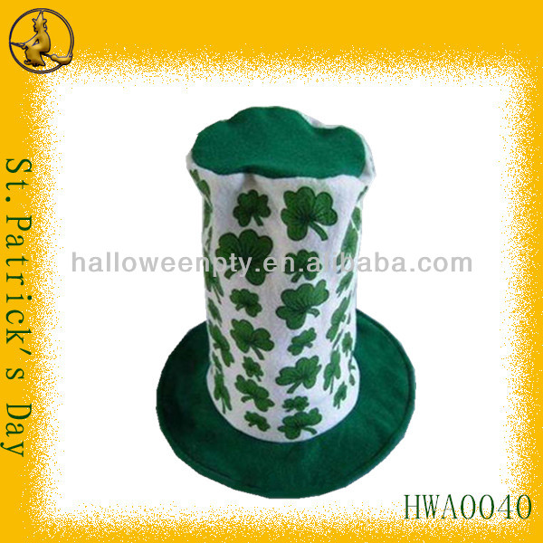 Best-selling Non-Woven Cheap Carnival Hat with Shamrocks