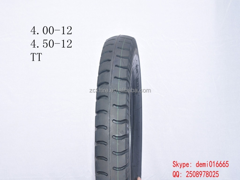 2015 hot sale high quality low price XD-048 autobike TT tire 4.00-12 motorcycle china tire