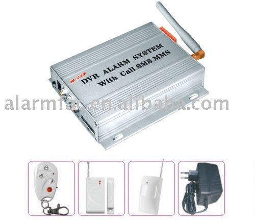DVR alarm system with MMS&SMS function