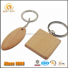 Wholesale Custom Blank Square Shaped Wooden Keyring Keychain