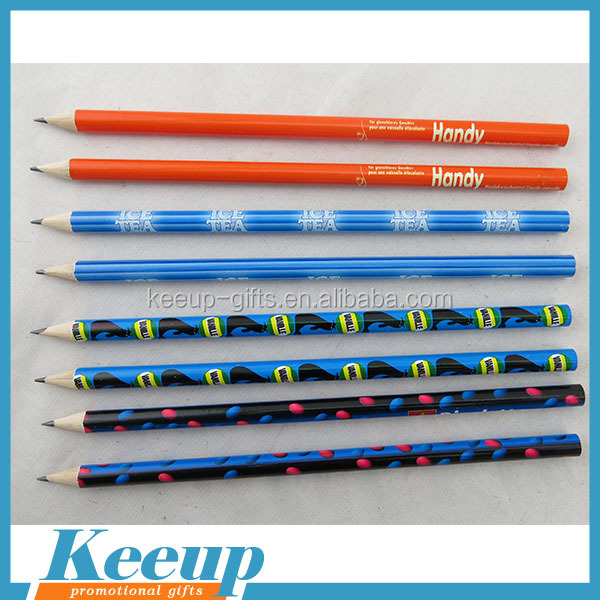 7'' Round Shape Custom Wooden Pencil With Full Color Logo