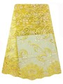African wedding dress lace yellow frech tulle lace fabric FL1525