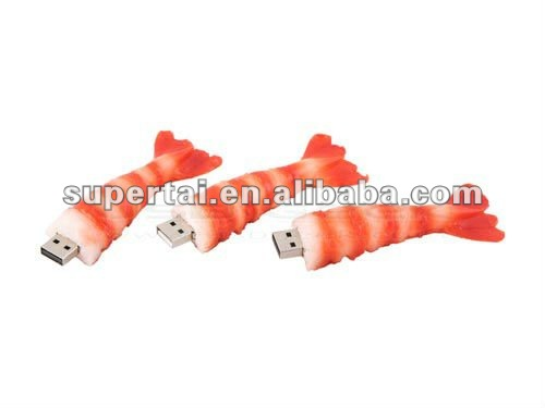 different style usb flash drive food shape usb drive pvc shrimp usb disk offering