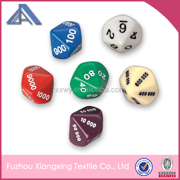 Promotional 12mm custom 10 sided dice