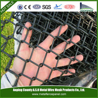 wholesale galvanized then rubber coated chain link fence