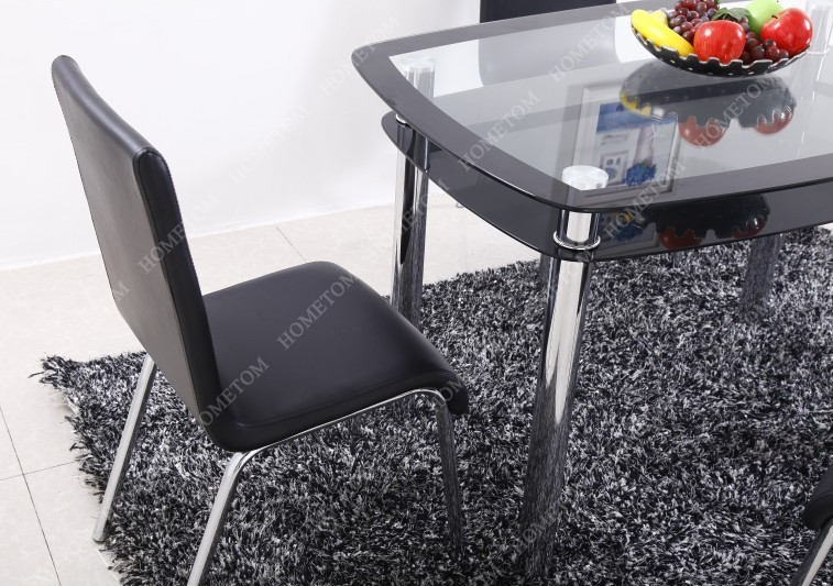Most Popular High Quality Glass Dining Table Set For Uk Market 1 Table 4