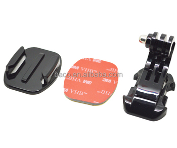 GP57 all sport camera sj4000 accessories J-Hook Buckle Flat Mount with 3M sticker