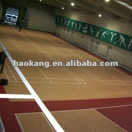 Multi-purpose pvc sports wood like pattern flooring