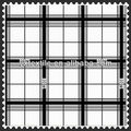 fashion design black white plaid taffeta fabric