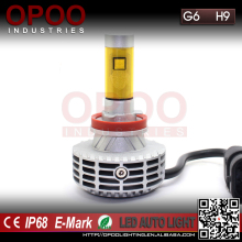 Hot sale G6 Car auto bulbs H9 led headlight kit