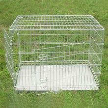 high quality cheap portable foldable metal wire zinc pet cage dog crate