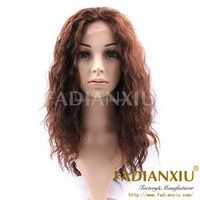 FDX Indian human vrigin hair full lace wigs with combs and straps water wave