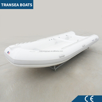 Popular white rowing pvc inflatable boat with hard bottom