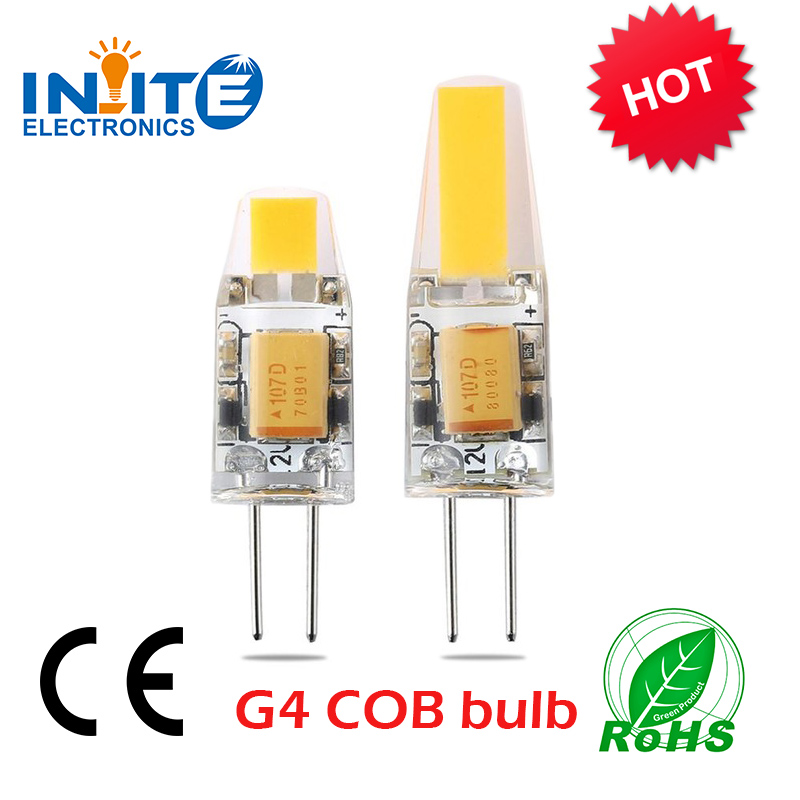 silicon gel 1W COB g4 led mini bulb AC/DC 12V lighting