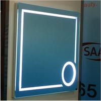 contempoary led backlit lighted bathroom mirror for hair salon