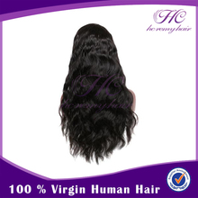 Best Price No Shedding Natural Color Hand Made Virgin Body Wave Full Lace Wig