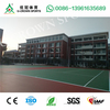 Silicon PU court synthetic flooring outdoor sport floor for multi-sports usae