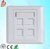 Network cable face plate 4port RJ45 wall plate , 86 type faceplate