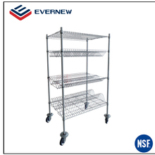 Adjustable stainless steel wire drying rack kitchen stand shelf