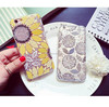 New arrivel OEM transparent TPU sunflower relief protective phone case for iphone 6/6 plus