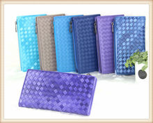 2014 Genuine Leather Multiple Colors Unisex Sheepskin Weave Ladys Wallet