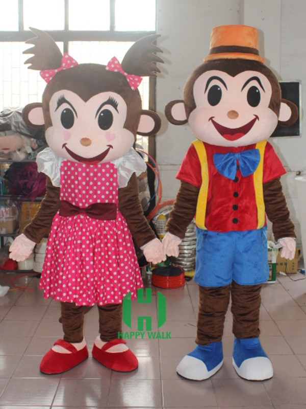 CE EN certificates mascot costume!! <strong>Monkey</strong> girl and boy pair Mascot costume for sale!!