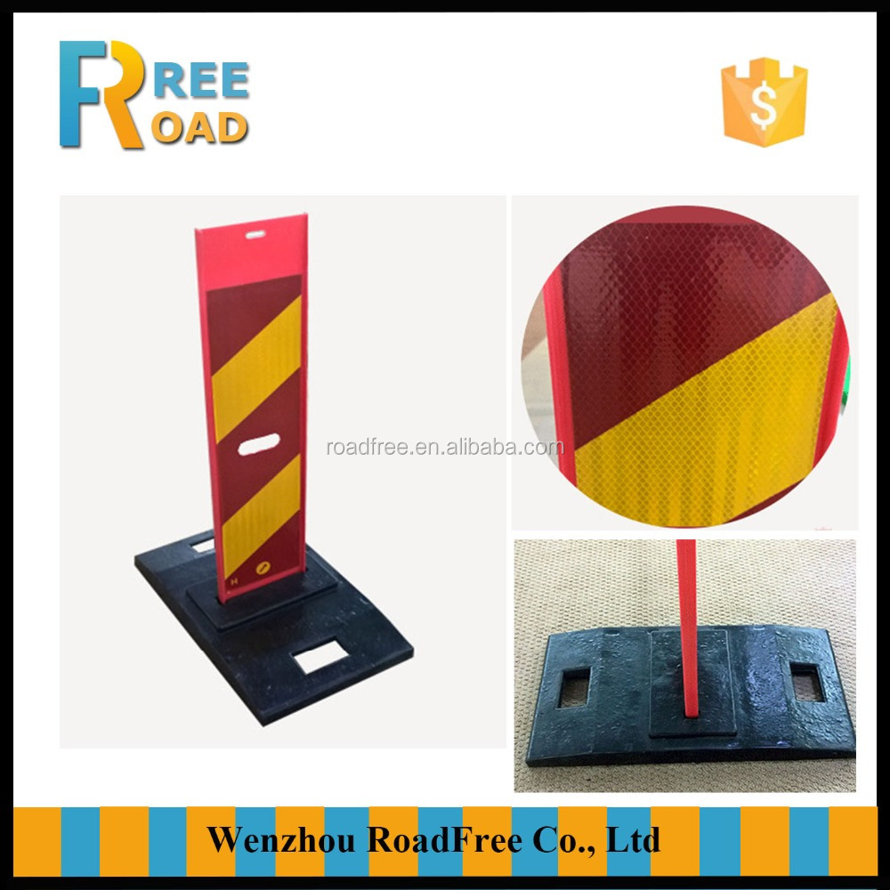 110cm detachable Reflective flexible Warning road Safety Delineator board with hole