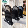 New Desigh Shanxi Black Granite Tombstone
