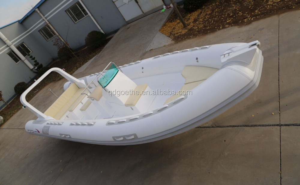 RIB860 Goethe Rigid Hull Fiberglass Inflatable Boat