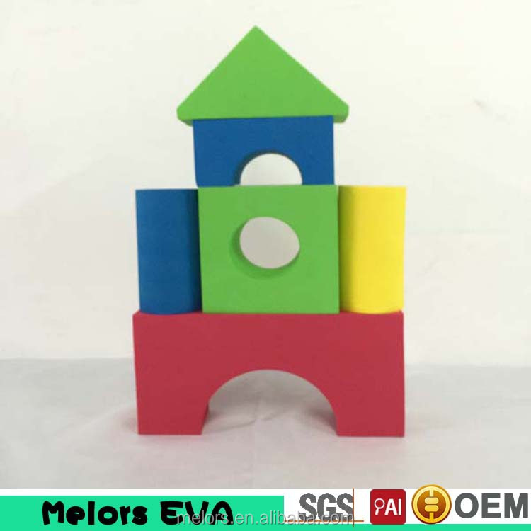 Melors Eco-friend custom educational EVA building block bricks for kids