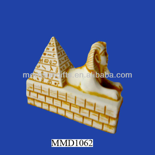 Delicate Egyptian Resin Sphinx Pyramid