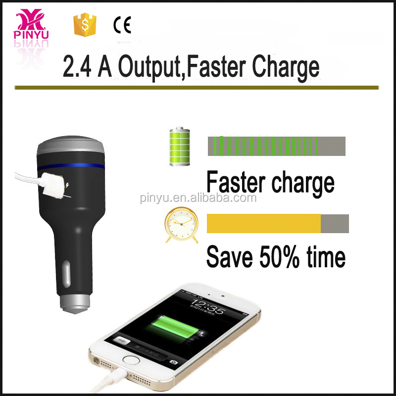 Mobile phone charge speed LED light and razor car charger for android 4 in 1 functions