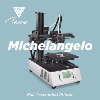 2018 TEVO Michelangelo Impresora 3D Printer Fully Assembled 3D Printer Kit Full Aluminum Frame Titan Extruder Imprimante 3D