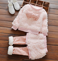 Wholesale christmas baby girls pony sweater striped pants outfits 2 pieces sets