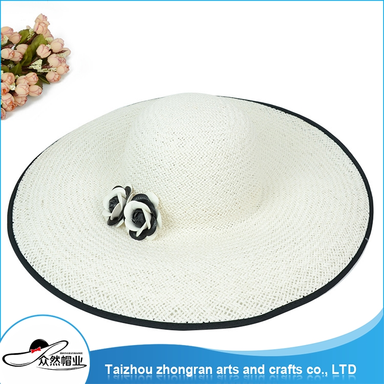 High Quality Wholesale Fashion Fashion Women Paper Straw Foldable Hats Fashion Lady Straw Hat