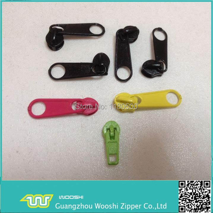 factory supply high quality nylon 7# painted zipper slider for garment accessories