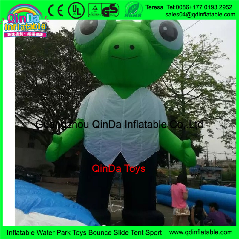 Funny Advertising Equipment Tall Cartoon Characters Inflatable Costume Frog Cartoon Characters for Outdoor Advertising