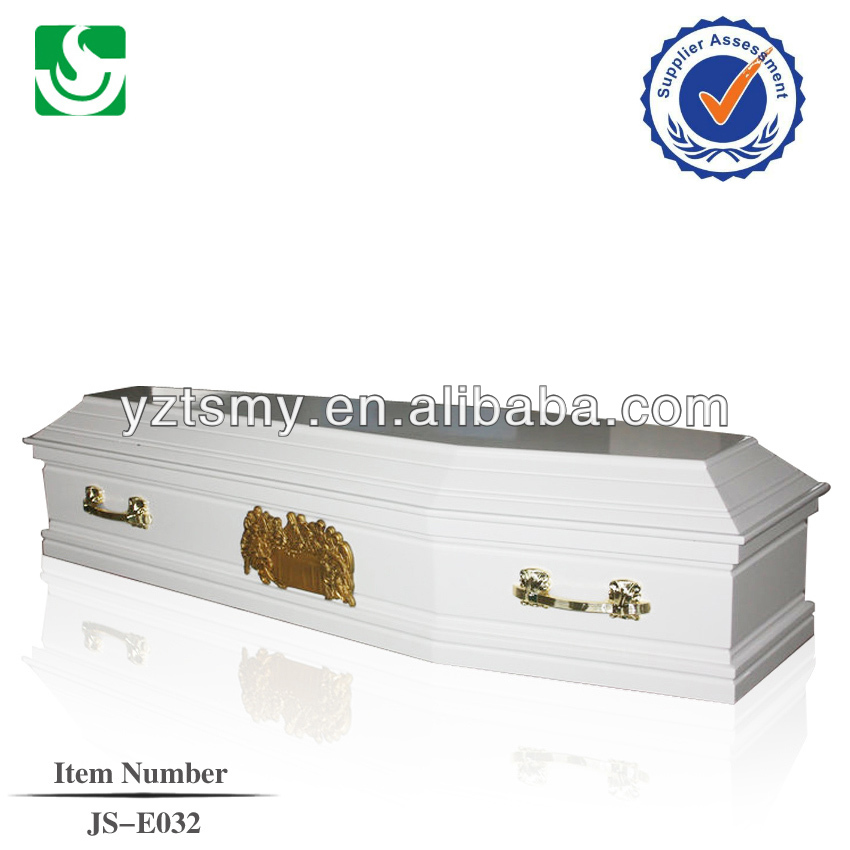MDF white painting refrigerator coffin