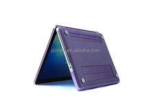 "Made in china Dcshine cheap factory price clear crystal laptop protect case cover hard shell for macbook pro 13.3"" Purple color"