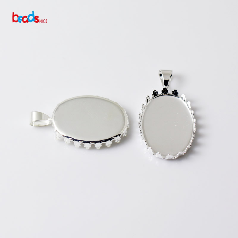 Beadsnice Brass Pendant Bezel Blank Trays Fits 13X18mm Pendants Jewelry Findings ID 22952