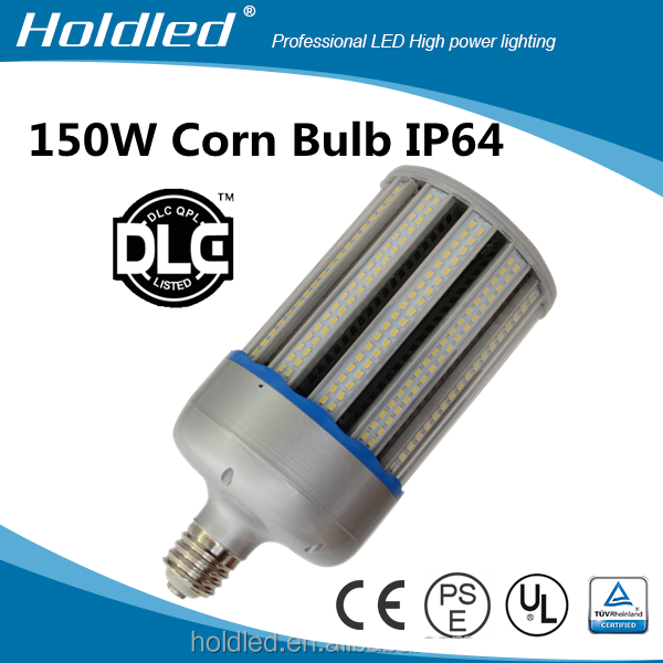 150W 277V/110V ip64 led corn lamp for USA market, ul dlc listed corn led bulb